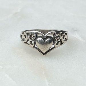 Premier Designs Sterling Silver Heart Ring